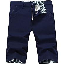 Lovelelify Mens Chino Shorts Slim Fit Short Casual Flat Front Shorts