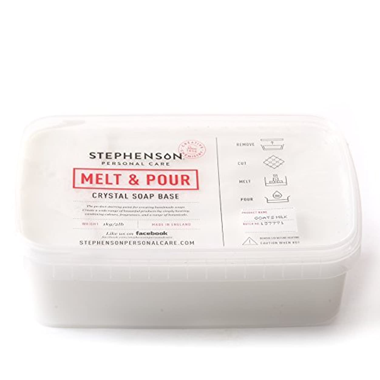 本土原理セブンMelt and Pour Soap Base Goat's Milk - 1Kg