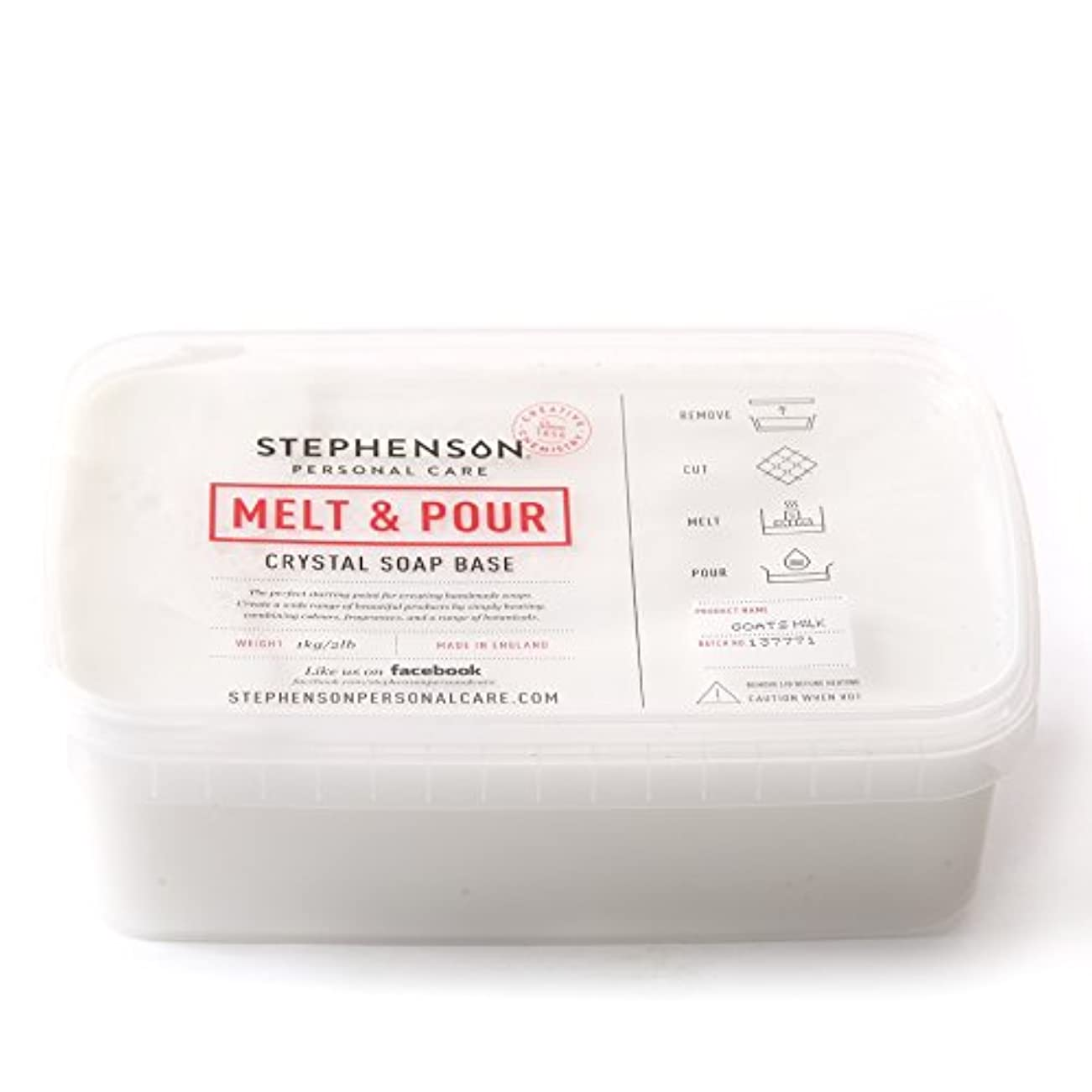 すばらしいです認知データムMelt and Pour Soap Base Goat's Milk - 1Kg
