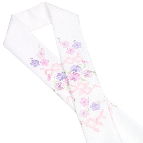 (キョウエツ) KYOETSU 刺繍半衿 小花柄 半襟 白 単品 (8)