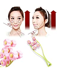 Elegant Flower Shape Portable Facial Massager Roller Anti-Wrinkle Face Lifter Slimming Face Shaper Relaxation...