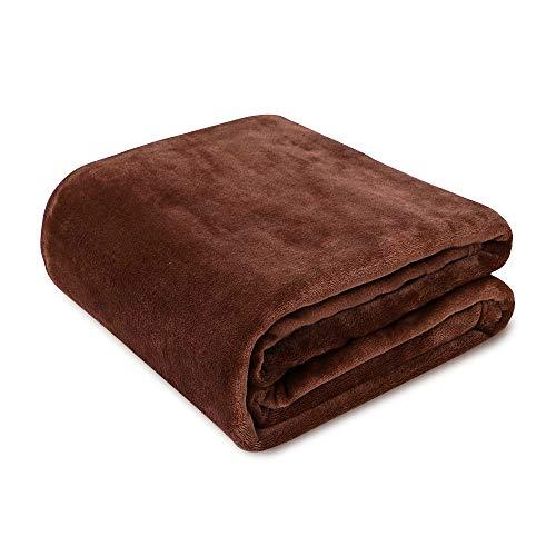 毛布 シングル Ambimall ブランケット フランネル マイクロファイバー 140*200cm ブラウン 軽い 暖かい 柔...