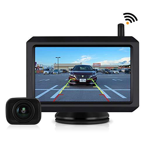 【2019年最新版】バックカメラモニターセット デジタルバックモニター ケーブル一本配線 ワイヤレス 5インチ LCDモニター 電磁波干渉防止 ノイズ対策 駐車支援システム ガイドライン表示あり 技適マーク付き 12V車用 BOSCAM K7