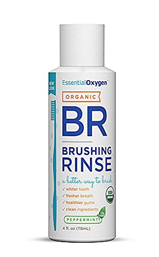 内向き歩き回る修道院海外直送品Essential Oxygen+ Brushing Rinse, Peppermint 4 oz by Raw Essentials Living Foods