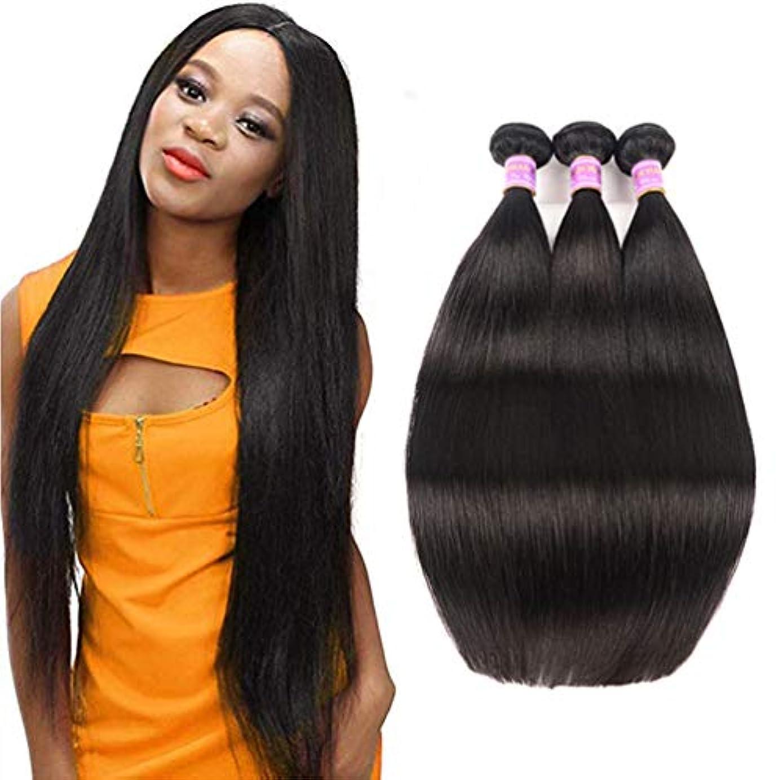 裁量サスティーンコートブラジルのまっすぐな人間の毛髪3の束の絹のようなまっすぐなバージンの人間の毛髪の織り方延長自然な300g