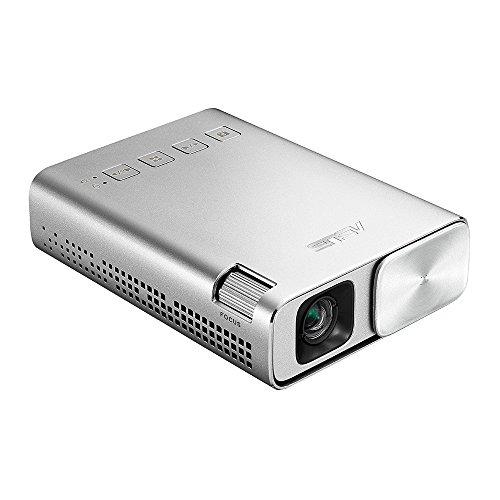 ASUS ZenBeam E1 ポケット LED プロジェクター(小型ミニ/150ルーメン/6,000mAhバッテリー内蔵/5時間の投影時間/パワーバンク/ HDMI MHL対応)
