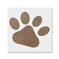 """Dog Pawステンシルテンプレート–再利用可能なステンシルwith複数サイズあり 20""""x20"""""""