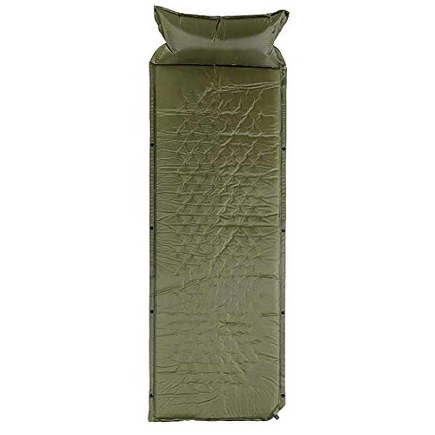 汚い泥沼損なう屋外用軽量スリーピングパッド - ピロー付きコンパクトで非常に軽量のスリーピングマット、断熱材、キャンプ、旅行、ハイキングに最適