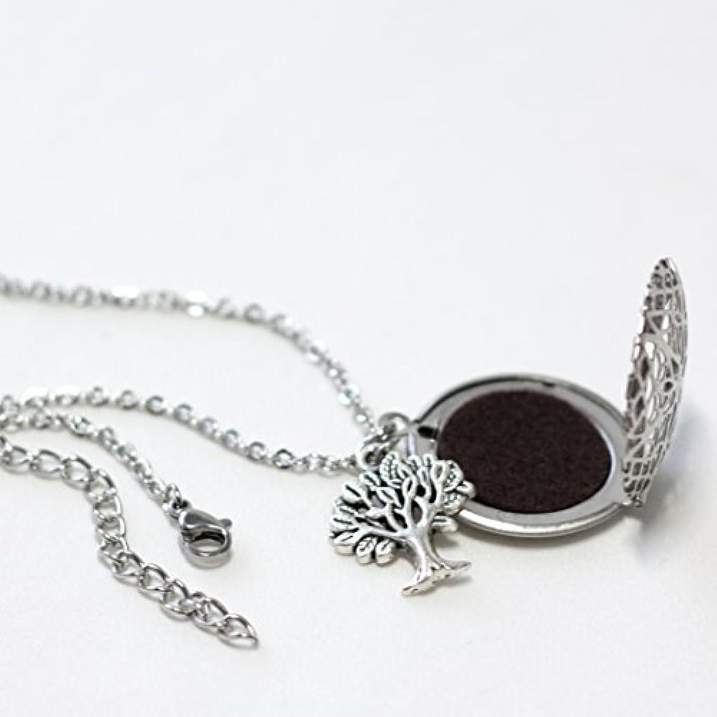 ブレイズ逃れる羽Tree Diffuser Necklace for Essential Oils 24 inches with felt pads [並行輸入品]
