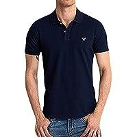 (アメリカンイーグル ) AMERICAN EAGLE/半袖 ワンポイント刺繍 ポロシャツ S M L [並行輸入品]