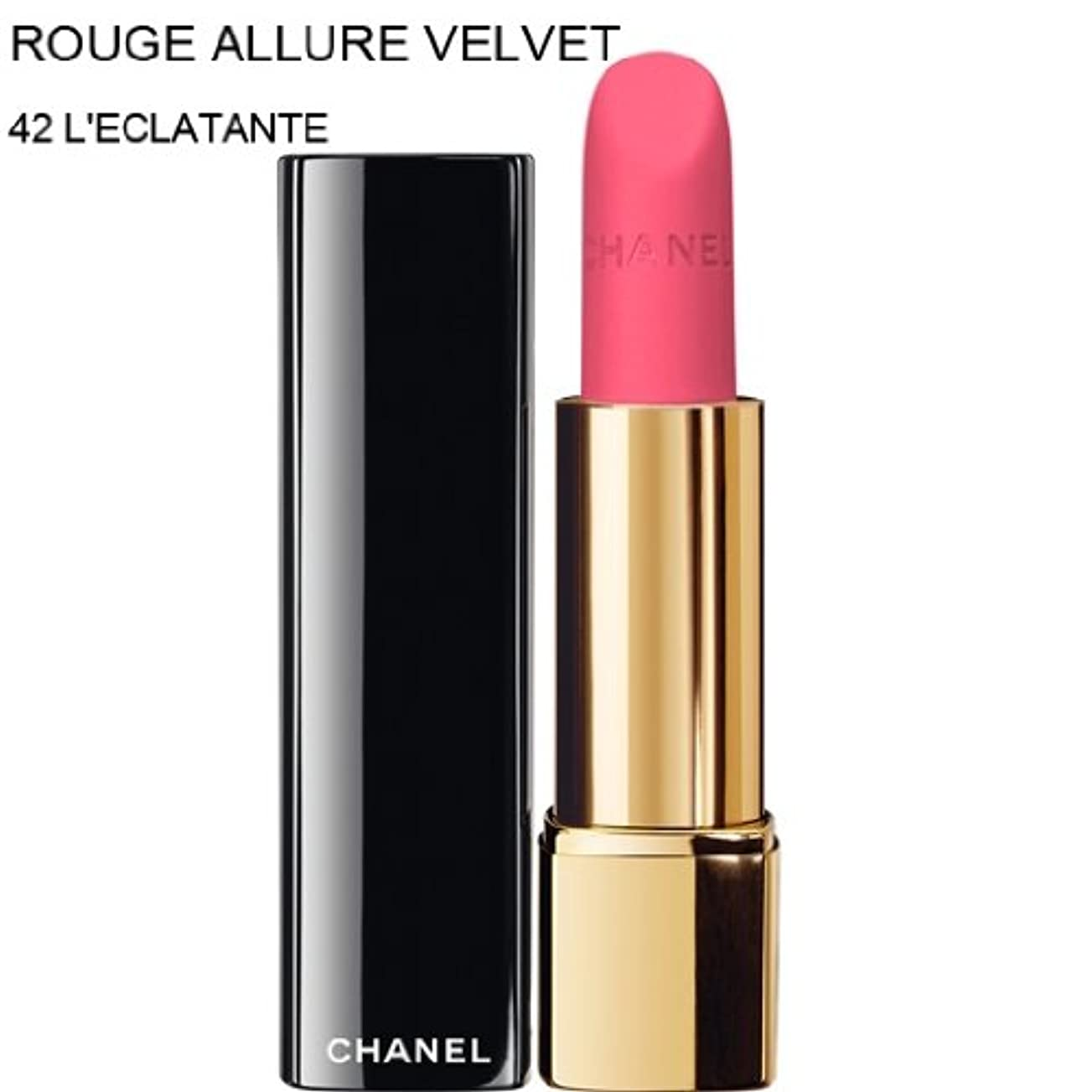 ピケ交換イチゴCHANEL-Lipstick ROUGE ALLURE VELVET (42 L'ECLATANTE) (parallel imported item 並行輸入品)