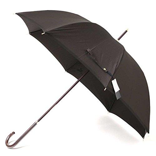 傘 ホースマーク刺繍 木ハンドル ゴールドディテール 総柄 60サイズ 全長92cm 親骨60cm バーバリー 71859 BURBERRY ブラック メンズ