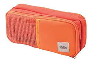 ELECOM アクセサリ収納 汎用ポーチ 3ポケット ストレッチ生地 軽量 オレンジ BMA-GP10DR