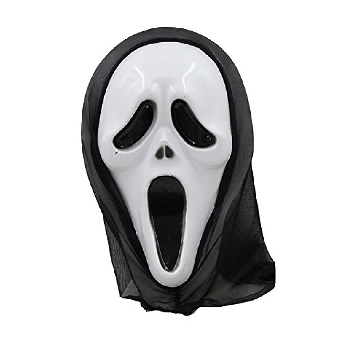 ロックまたはどちらかメロディーハロウィーンマスク仮面舞踏会全体の小道具フェイスマスクホラー叫びマスク