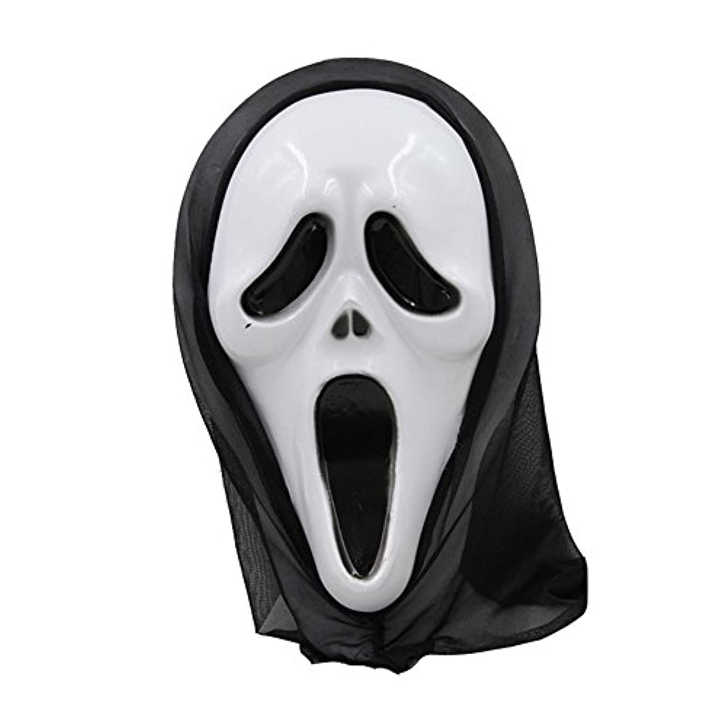 スーパー故障中レディハロウィーンマスク仮面舞踏会全体の小道具フェイスマスクホラー叫びマスク