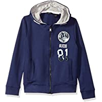Guess Boys' Big Long Sleeve Zip Up Graphic Fleece Hoodie
