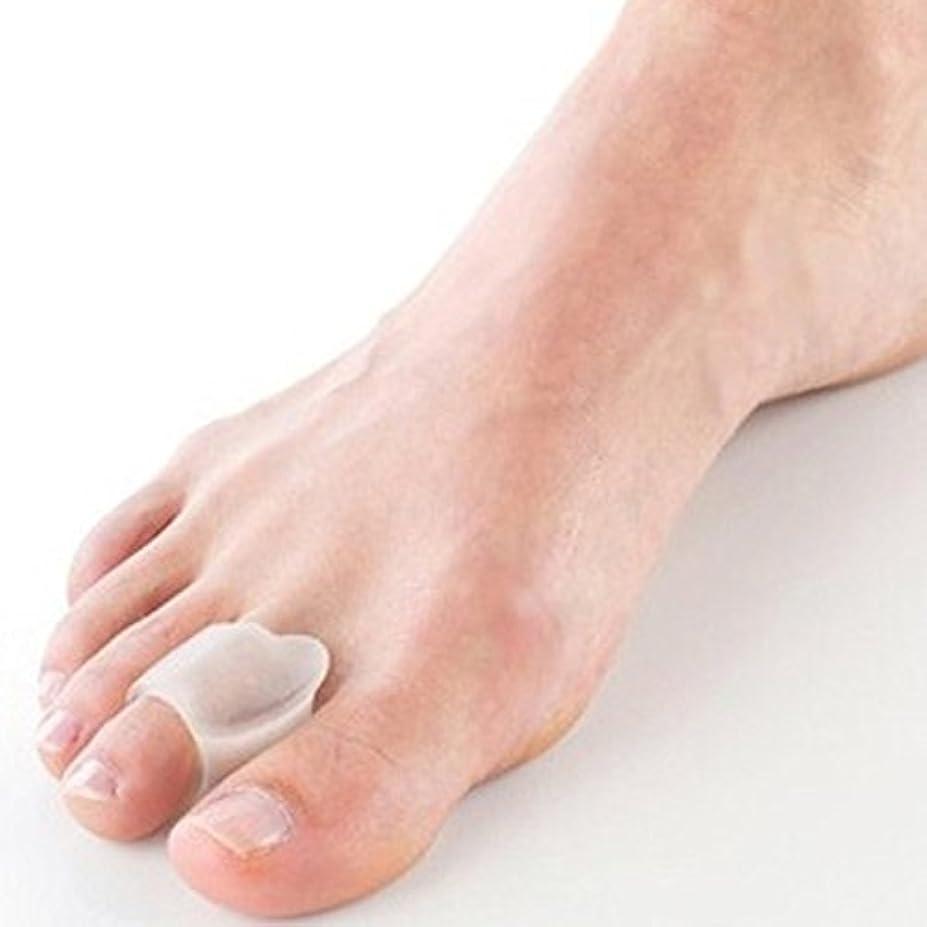ミス災難くさびLorny(TM) ハイヒール外反母趾の足セパレーター外反ストレイテナーつま先ビートル?クラッシャーのために骨の親指マッサージ器2個のシリコーン足セパレータ