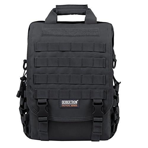 """(サイバトロン)Seibertron PCバッグ リュック ショルダー バックパック15.6""""ノートパソコン対応MOLLE 防水 デイパック リュックサック 多機能 男女兼用OUTDOOR DAY PACK 15.6""""laptop backpack ブラック Black"""