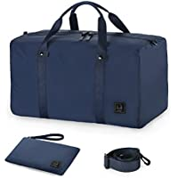 GAGAKU 45L Travel Duffel Bag Lightweight Carry-on Foldable Bags Large Duffel Bag for Flight Cabin - Blue