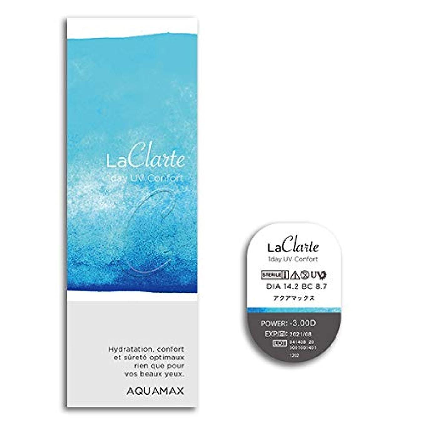 アイザックプランテーションエレガントLaClarte 1day UV Confort (ラクラルテ ワンデーUV コンフォルト) 30枚入 2箱 【BC】8.7 【PWR】-9.50