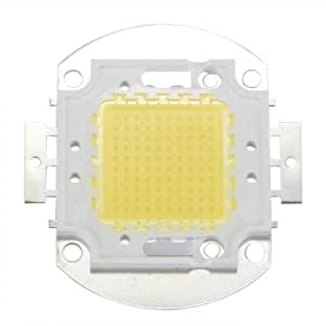 SODIAL(R)100W 7500LM 6500K DC32-34v ハイパワーLED電球ランプライトホワイト