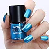 Tradico®9ml Metallic Nail Polish Mirror Blue Manicure Shiny Varnish DIY Tool Born Pretty