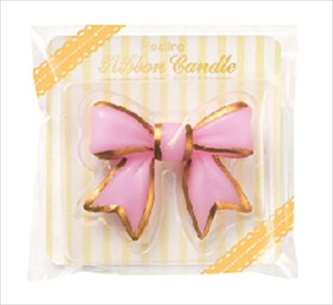 反響するびっくりズームカメヤマキャンドル(kameyama candle) フローティングリボンキャンドル 「 ピンク 」