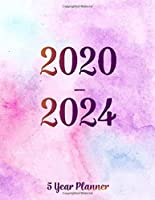 2020-2024 5 year planner: 2020-2024 planner. Monthly Schedule Organizer, Agenda Planner For The Next Five Years, Appointment Notebook, Monthly Planner, Action Day, Passion Goal Setting (Watercolor Violet) (2020-2024 monthly planner)
