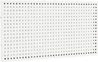 TRUSCO ULRT型ライン作業台用パンチングパネル W900