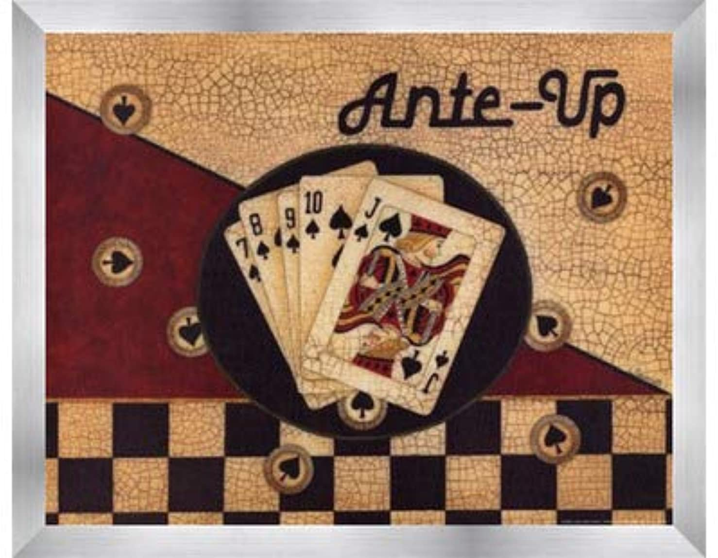 ヘア光沢省略するAnte Up by Linda Spivey – 14 x 11インチ – アートプリントポスター LE_75142-F9935-14x11