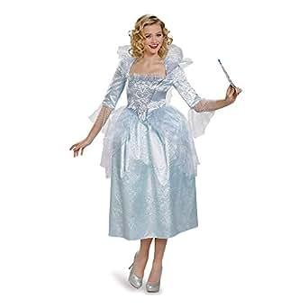 映画 シンデレラ フェアリー・ゴッドマザー 魔法 使い デラックス ドレス 大人用 ハロウィン コスプレ (Mサイズ)