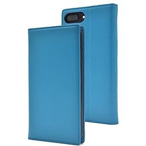 PLATA iPhone6Plus / iPhone6sPlus / iPhone7Plus / iPhone8Plus ケース 手帳型 ラム シープスキン 羊革 本革 レザー カバー 6プラス 6sプラス 7プラス 8プラス 【 ライトブルー 水色 みずいろ lightblue 】 IP7P-8800LB