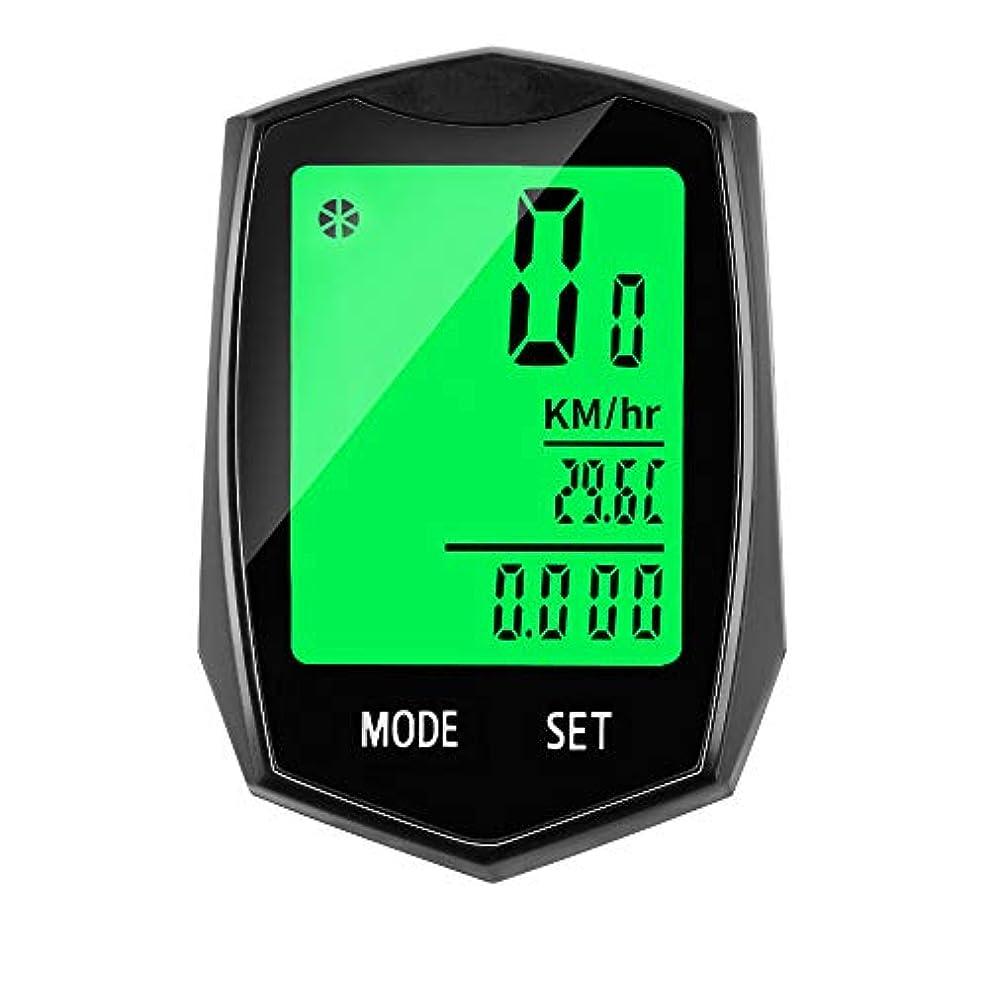 準備した符号操縦する自転車コンピュータスピードメーターワイヤレスMTB自転車サイクリング防水走行距離計ストップウォッチウォッチLCDデジタルレートタッチスクリーン英語表示
