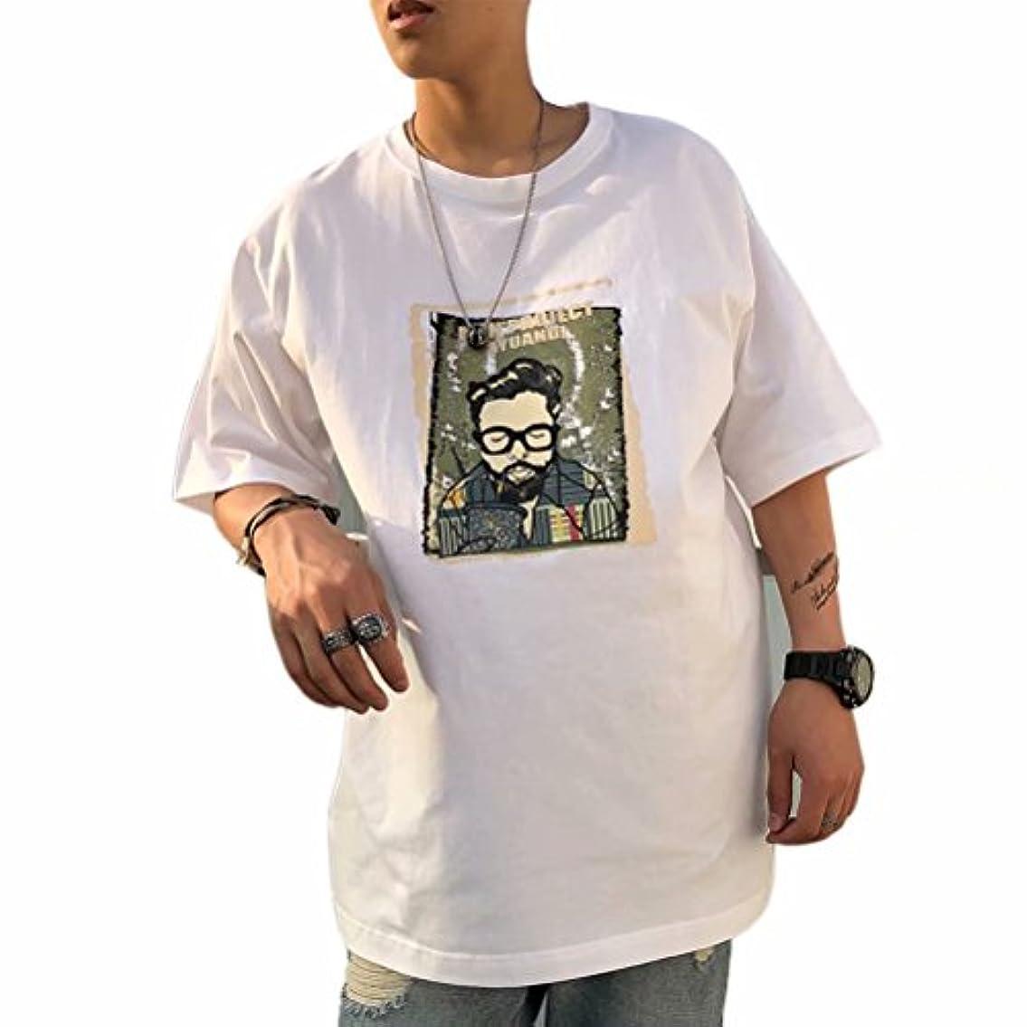 デモンストレーション大工慎重InitialGイニシャルジー Tシャツ メンズ 半袖 ゆったり 大きいサイズ シャツ 015-xz802-18053
