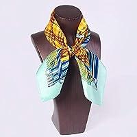QingYun Trade 女性用シルクスカーフシルクスカーフ (Color : Beige, サイズ : M)