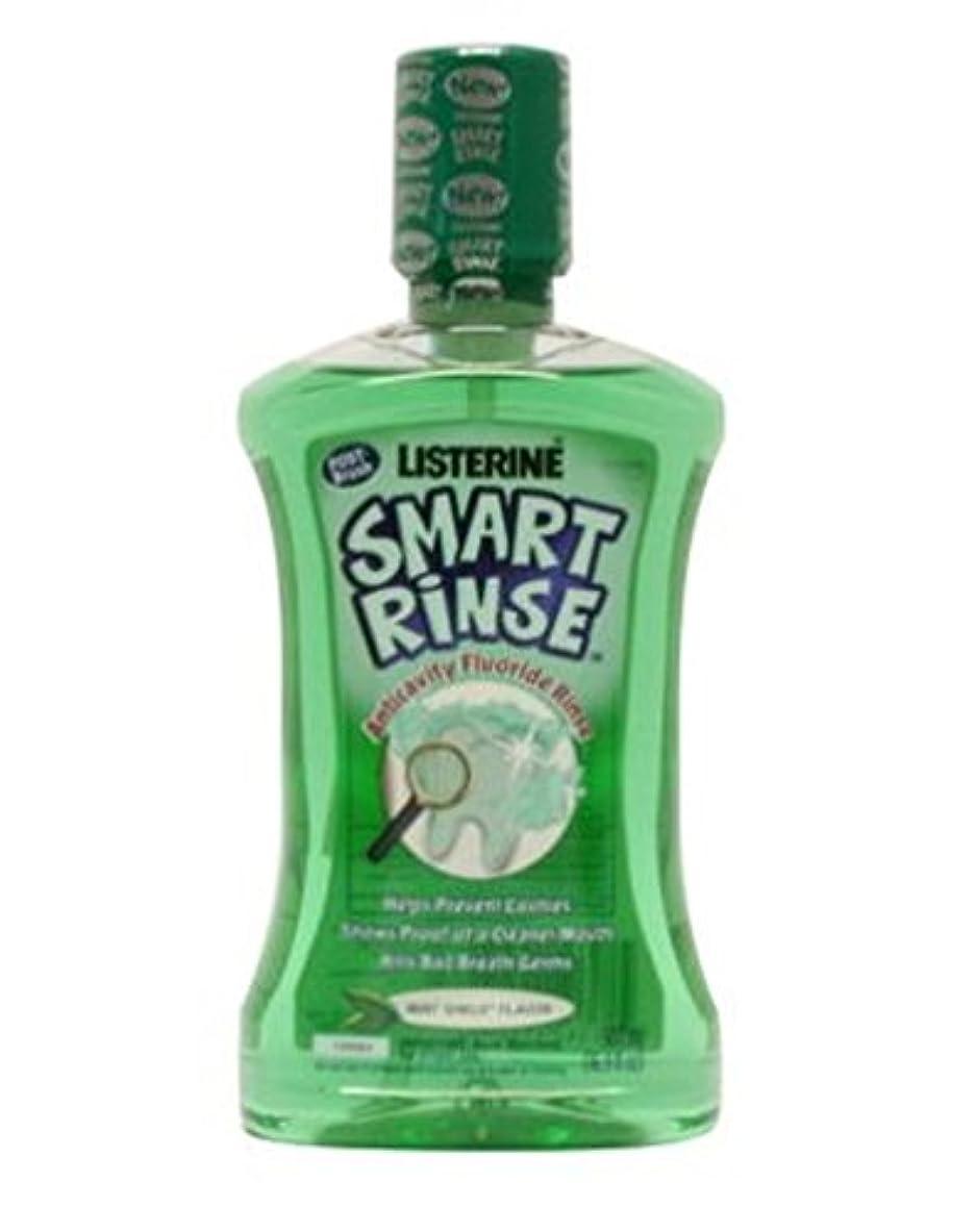 ラビリンスアクセスできない氷子供のためのリステリンスマートリンスミント洗口液500ミリリットル (Listerine) (x2) - Listerine Smart Rinse Mint Mouthwash For Children 500ml (...