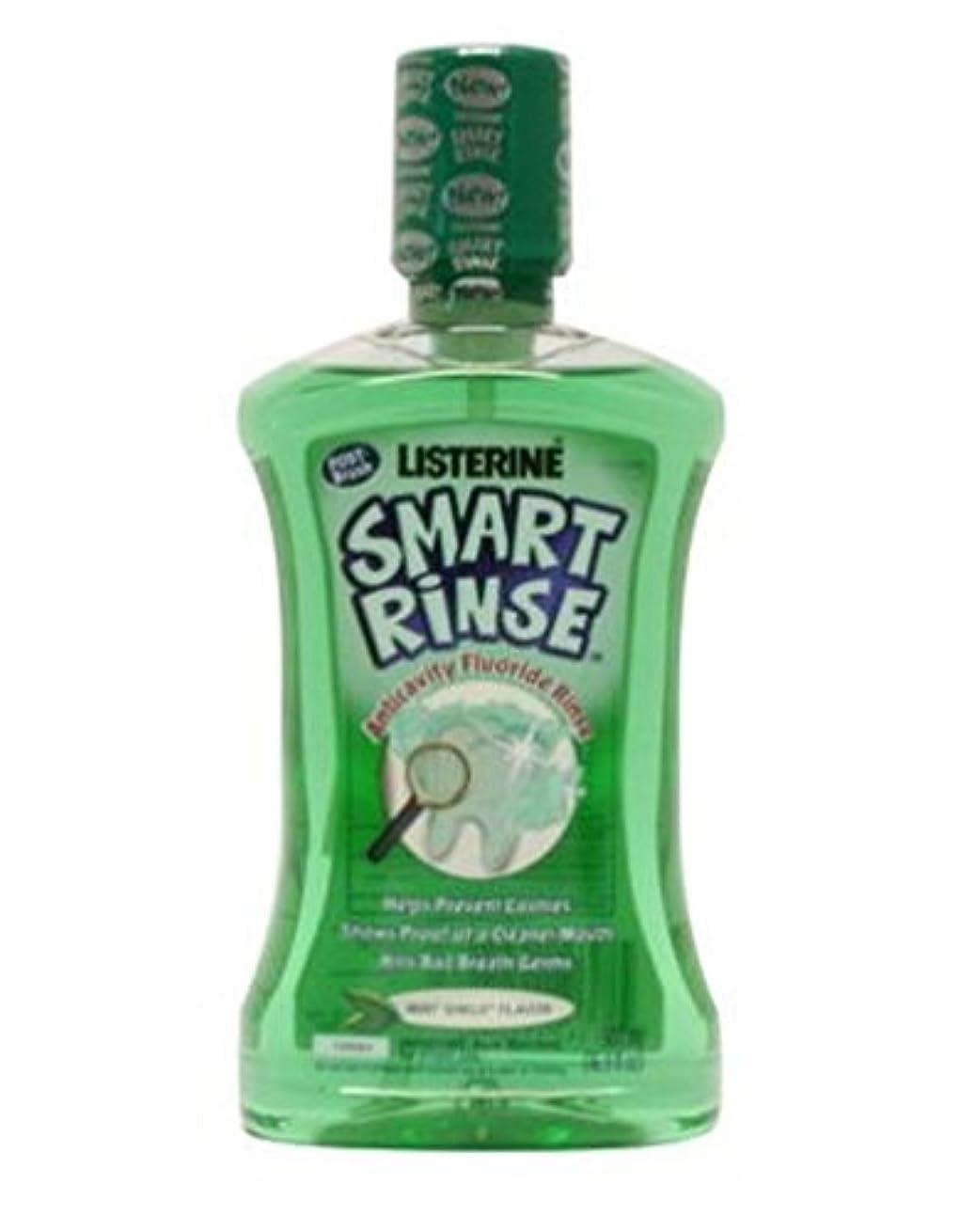 周術期フライカイト市民権Listerine Smart Rinse Mint Mouthwash For Children 500ml - 子供のためのリステリンスマートリンスミント洗口液500ミリリットル (Listerine) [並行輸入品]