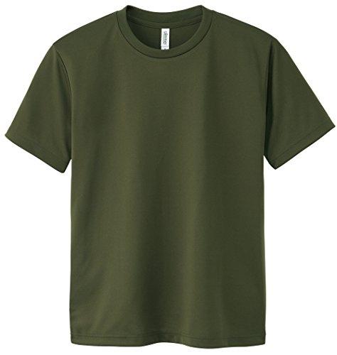 (グリマー)glimmer 4.4オンス ドライTシャツ(クルーネック) 00300-ACT 037 アーミーグリーン 03 L