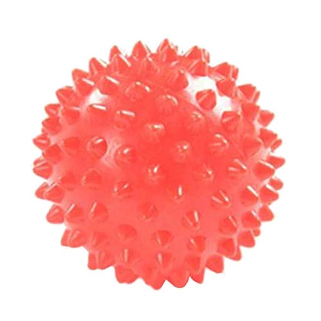 バルコニー繊毛証明書Hellery マッサージローラー マッサージボール 触覚ボール リハビリ ヨガ練習 7cm オレンジ