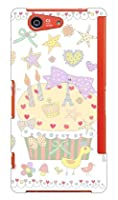 SECOND SKIN uistore 「Pretty☆World (white)」 / for Xperia Z3 Compact SO-02G/docomo DSO02G-ABWH-194-X069