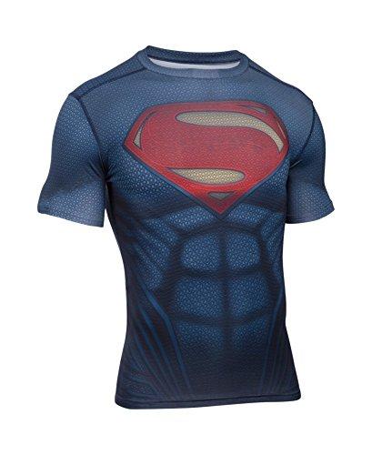 アンダーアーマー スーパーマン オルターエゴ Tシャツ トレーニングウェア コンプレッションシャツ メンズ 3XL 大人 男性用 アメコミ スーパーヒーロー グッズ [並行輸入品]