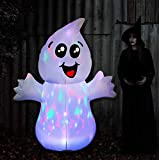 GOOSH 5FT Inflatable Halloween Ghost with The Magic Light Blow Up Inflatables Halloween Outdoor Yard Decorations