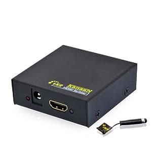KanaaN HDMIスプリッター 1入力2出力 4k対応 Y-アダプタ 2160p Full UHD/ HD 1.4b 2-fach / 2-port