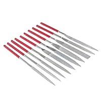 perfk ダイヤモンド針ファイル 作業工具 高品質 滑り止め 10個入り(10種類) 全3サイズ - 5×180mm