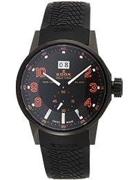 [エドックス]EDOX 腕時計 WRC ブラック文字盤 ステンレス(BKPVD) ケース ウレタンベルト 100M防水 64008-37N-NOR メンズ 【並行輸入品】