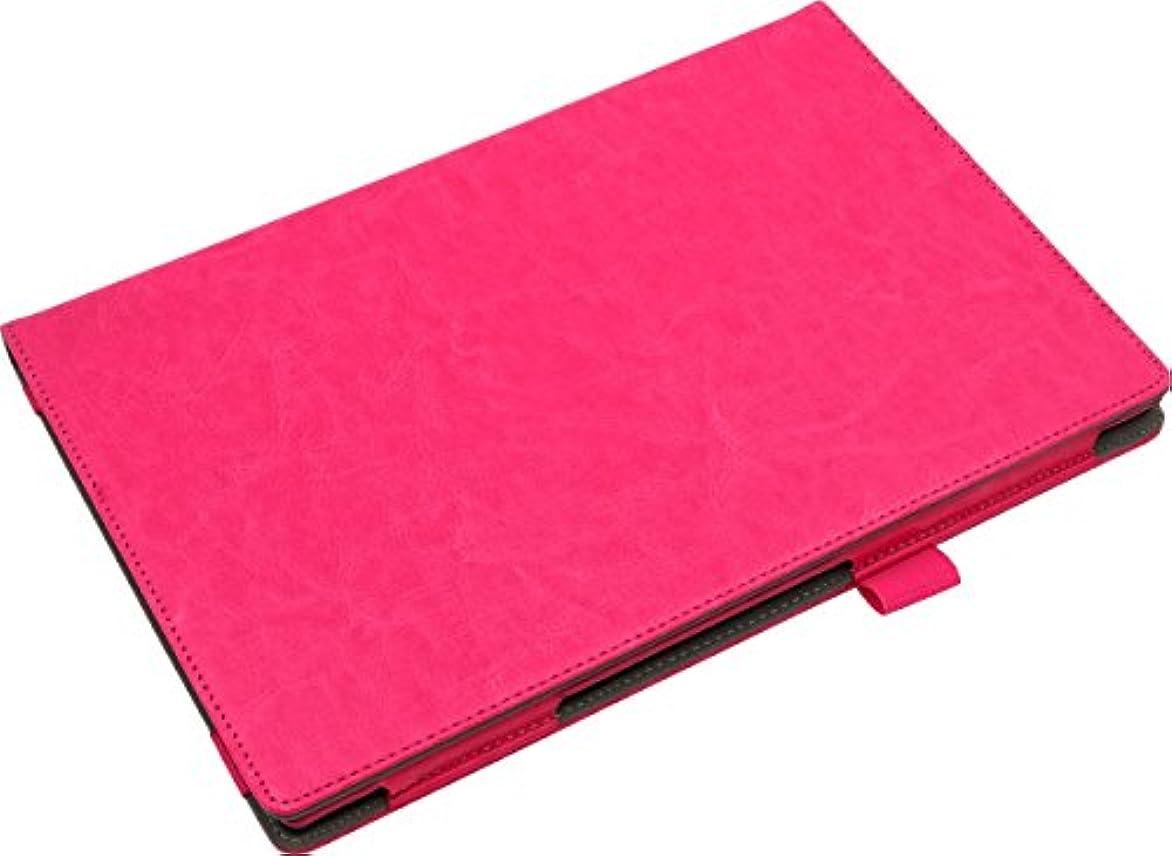 クライストチャーチ大気かかわらず《液晶保護フィルム付》 【ピンク】 docomo arrows Tab F-04H 手帳型 オイル レザー ケース カバー アローズ タブ スタンド機能 ピンク ピンク