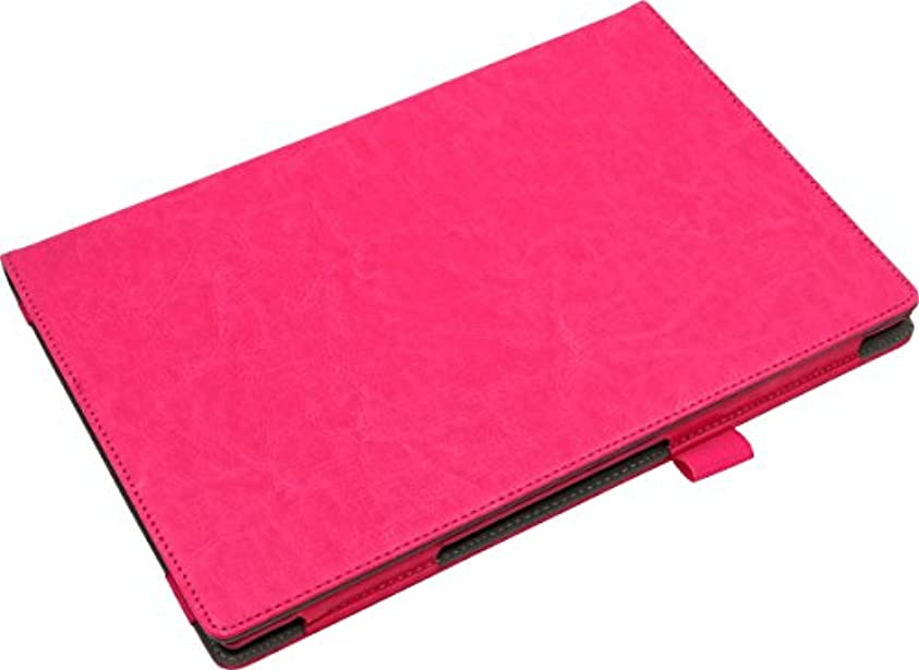 排他的充電リベラル《液晶保護フィルム付》 【ピンク】 docomo arrows Tab F-04H 手帳型 オイル レザー ケース カバー アローズ タブ スタンド機能 ピンク ピンク
