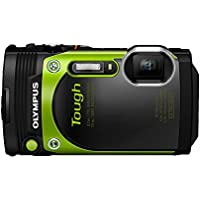 Olympus Stylus Tough TG-870 - Digital camera - High Definition - 60 fps - compact - 16.0 MP - 5 x optical zoom - Wi-Fi - underwater up to 45 ft - green