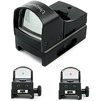 Uniquefire HD017 オープン式 レッド ダットサイト マウント付き 照準器 防振 20mm 対応 2色 赤緑 切替のスライドスイッチが