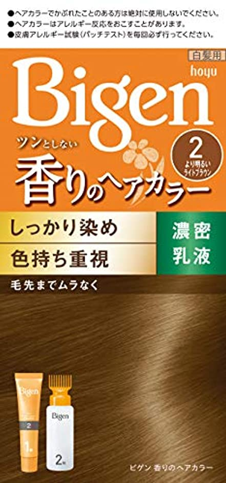 配管コンベンションバウンドホーユー ビゲン 香りのヘアカラー 乳液 2 より明るいライトブラウン (医薬部外品)